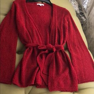 Open Fron cardigan with belt. Size small